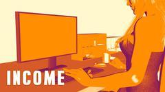 Income Concept Course - stock illustration