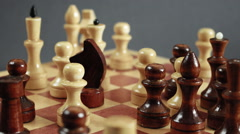 Game of chess timelapse Stock Footage