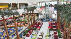 KRASNOYARSK : the people in the shopping centre , day, summer Stock Footage