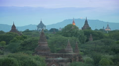 Bagan Temples and Pagodas in Myanmar Day to Night Timelapse Stock Footage