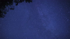 The night starry sky. Milky Way. Shooting Stars Stock Footage