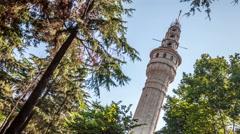 Istanbul. Beyazit tower. Easy vertical pan Stock Footage