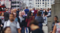 4K Anonymous people walking on a busy street, in slow motion Arkistovideo