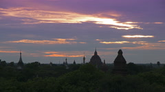 Dawn Timelapse of Buddhist Temples and Pagodas at Bagan Burma (Myanmar) Stock Footage