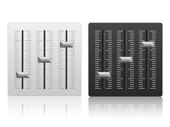 Mixing console icon - stock illustration