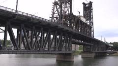 Bridge lowering platform Stock Footage