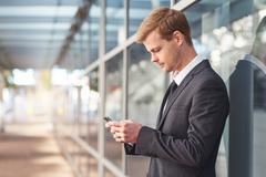 Staying connected in business Stock Photos