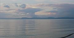 Lake Taupo at sunset, New Zealand Stock Footage