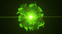 Neon Green Portal Opening - 35 - stock footage