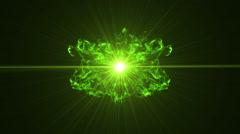 Neon Green Portal Opening - 28 - stock footage