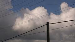 Cumulonimbus thunderstorm clouds forming - stock footage
