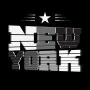 T shirt New York black white star Stock Illustration