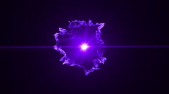 Neon Purple Portal Opening - 43 - stock footage