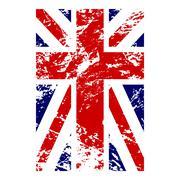 British flag vertical grunge design - stock illustration