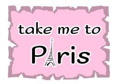 Eiffel Tower Take me to Paris Stock Illustration