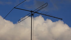 Antenna at sky clouds background Stock Footage