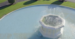 Aerial of fountain at Marine Parade, Napier, New Zealand Stock Footage