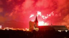 Fireworks over the Cathedral Stock Footage