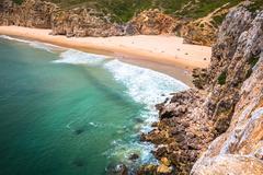 Praia do Beliche - beautiful coast and beach of Algarve, Portugal - stock photo