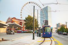 Street car near the Centennial Olympic park Stock Photos