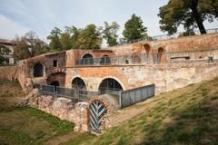 Bastion Ceglarski Ruins in Wroclaw - stock photo