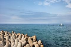 Sea Breakwater - stock photo