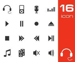 Sound icons set Stock Illustration