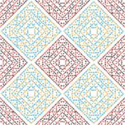Dashed seamless pattern Stock Illustration