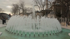 Fountain of Eyup Sultan Square in Istanbul Stock Footage