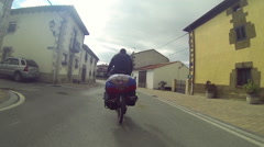 Spanish town. Travel on the road. Stock Footage