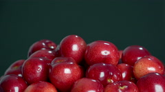 Cherry basket / Sweet cherry panning background Stock Footage