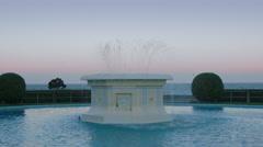 Fountain at Marine Parade, Napier, New Zealand Stock Footage