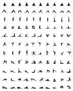 Silhouettes of yoga Piirros