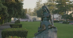 Pania of the Reef statue, Napier, New Zealand Stock Footage