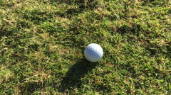 Golf chip from rough - stock footage