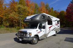 Roadtrip with motorhome in Indian summer Canada Stock Photos