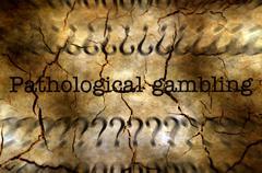 Pathological gambling disease concept Stock Illustration