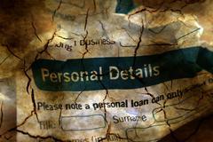 Bank application personal details - stock illustration