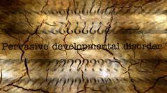 Pervasive developmental disorder grunge concept - stock illustration