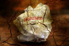 Abandon solution grunge concept Stock Illustration