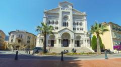 Monaco Cathedral in Monaco-city, Principality of Monaco Stock Footage