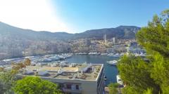 Luxury yachts in harbor of Monte Carlo, Monaco - stock footage