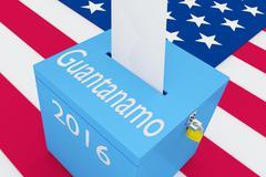 Guantanamo 2016 concept - stock illustration