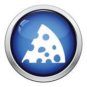 Cheese icon - stock illustration