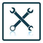 Icon of crossed wrench Stock Illustration