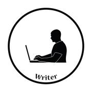 Writer at the work icon - stock illustration