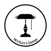 Writer's lamp icon Piirros