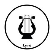 Lyre icon - stock illustration