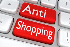 Anti Shopping concept Stock Illustration