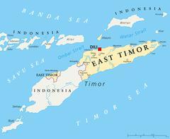 East Timor Political Map - stock illustration
